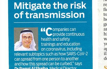 Mitigate the risk of transmission